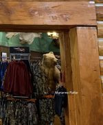 Stuffed grizzly bear as store display